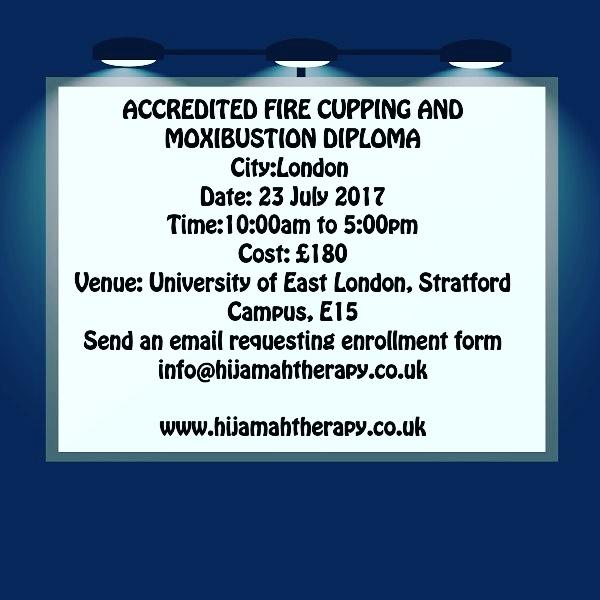 ACCREDITED FIRE CUPPING AND MOXIBUSTION